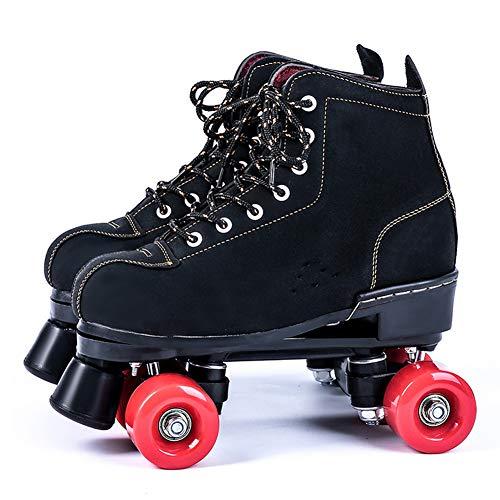 GGOODD Patines de Ruedas,Patines de Dos Hileras,4 Ruedas Zapato de Rodillo de Patada,Zapatos De Patinaje con Rueda,Zapatos Skate,para Regalo Principiantes