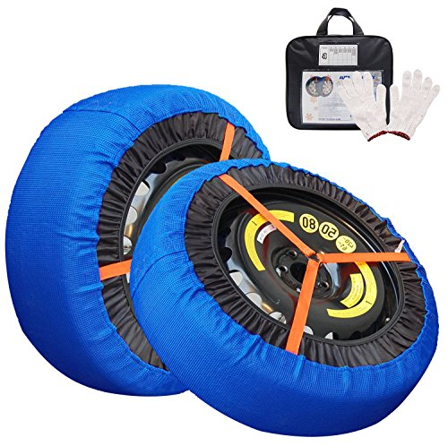 JSHANMEI Snow Socks Traction Car Tire Traction Cover Socks Tire Chain Alternative Anti Slip Winter Traction Aid (48)