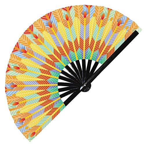 Hypnotiq Abanico egipcio de mano con resplandor UV egipcio, disfraz de esclavo egipcio, cosplay de mano, faran, ventilador de mano Cleopatra (estilo 2)