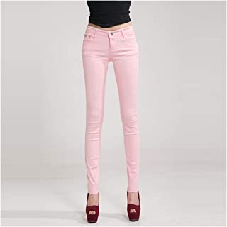 Women Pants Candy Jeans Spring Fall Pencil Pants Slim Casual Fashion Female Stretch Trousers White Jean