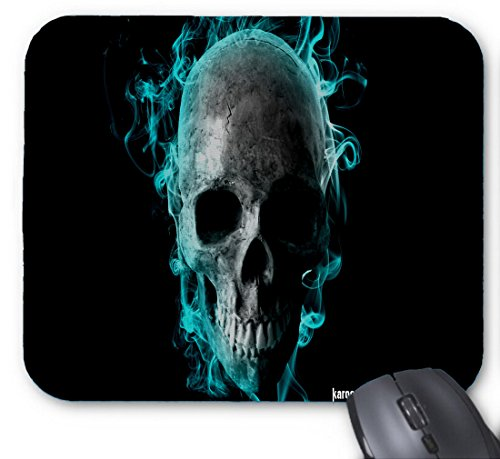 Gaming Mouse Pad Flaming Skull Art for Desktop and Laptop 1 Pack 25x20x2cm/9.8x7.9x0.8inch