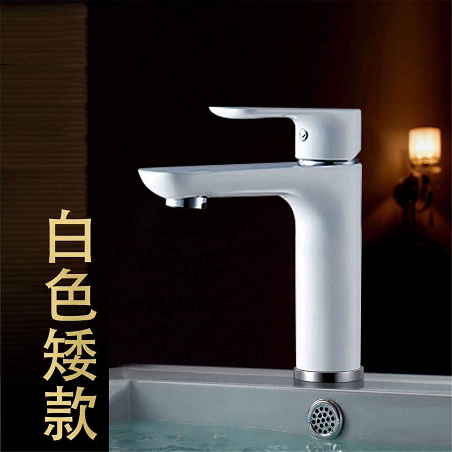 Guolaoer Copper Single Hole Hot And Cold Water Faucet Heightened???White