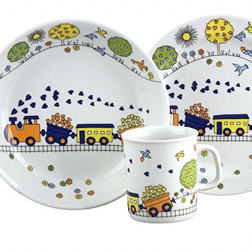 Set Assiette Plate, Assiette Creuse et Mug Muguet