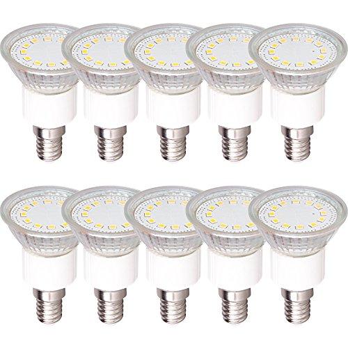 10 x LED Leuchtmittel Reflektor PAR16 3W E14 230lm warmweiß 3000K maxi flood 110°