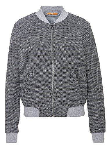 BOSS Damen Tiblouson Sweatjacke, Grau (Medium Grey 32), Small