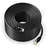 Ethernet Cable 300 ft CAT6 High Speed Internet Network LAN Patch Cable Cord (300 feet, Black)