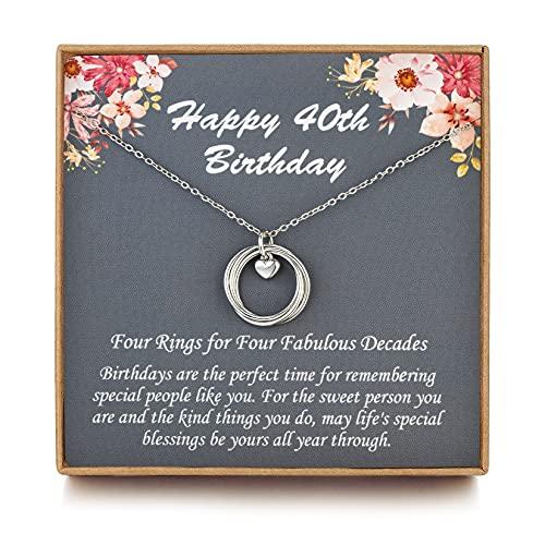 LOVEMY 40th Birthday Gifts for Women, Birthday Gifts for her, 40 Birthday Gifts, Sterling Silver 4...