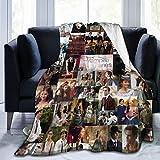 Vam-pire Diar-ies Flannel Fleece Throw Blanket Lightweight Soft Home Decor Warm Blanket for Couch Bed Sofa All Season 60' x50