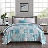 WOLTU BD14m04 Couverture de lit Couvre-lit 240x260 cm matelassée pour lit jeté de lit Double Motif Patchwork
