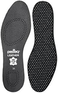 Pedag 2810 Vegetable Tanned Leather Insole Has Effective Active Charcoal Odor Protection, Black, Men's 11