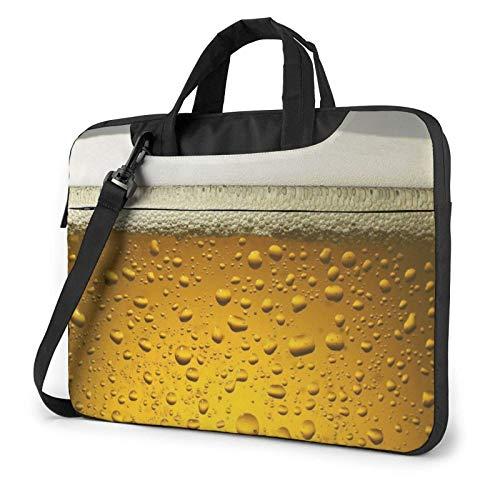 Bier Wallpaper Laptop Umhängetasche Umhängetasche Aktentasche Handtasche Laptop Hülle für 15,6 Zoll