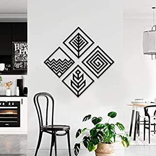 WALLCENTRE ART BEYOND IMAGINATION Mild Steel Mordern 4 Elements Square Shape Metal Wall Hanging Art Home Décor for Living ...