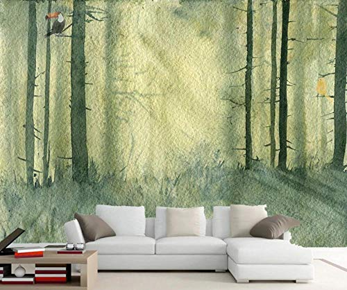 Wallpaper 3D Wallpapers for Walls Mural Abstract Watercolor Woods Toucan Wall Murals for Bedrooms and Living Room Tv Background Wall Mural Decoration Art 430cmx300cm