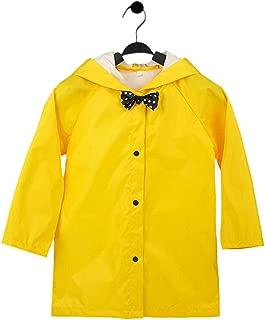 Rainwear Poncho for Kid Girls - Bowknot Lightweight Hooded Raincoat