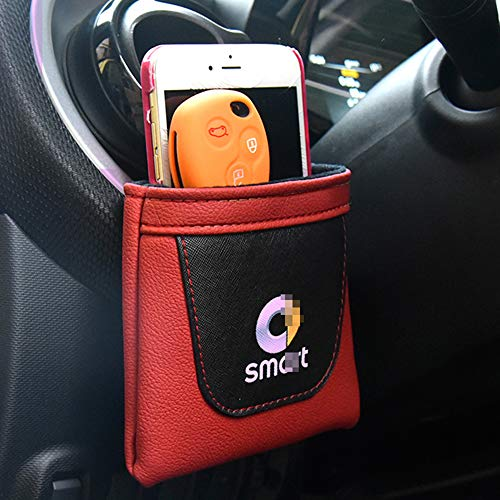 JTAccord Autotelefonkartenhalter Tasche Aufbewahrungstasche für Smart 451 453 Fortwo Forfour, Auto Styling Zubehör, 1 Stck