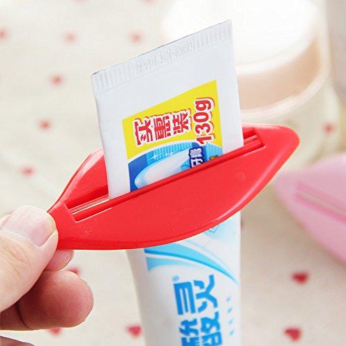 FATO. 2ST Lippenkuß Badezimmer Zahnpastaspender Gesichtsreiniger Rohr Creme Squeezer