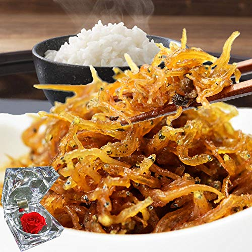 ギフト ちりめんじゃこ くぎ煮(山椒入り)250g 兵庫県産 淡路島産 プリザーブドフラワーセット