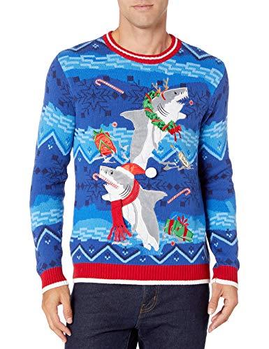 Blizzard Bay Men's Ugly Christmas Sweater Sharks