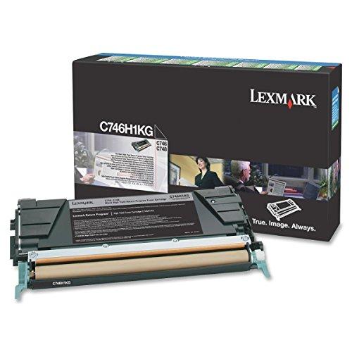 Lexmark High Yield Return Program Black Toner Cartridge C746H1KG, C746-H1KG