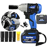<span class='highlight'><span class='highlight'>ZanGe</span></span> Impact Driver 18V, Cordless Impact Driver 460Nm, 2 x Batteries 6.0Ah, ½ inch Square Drive, Fast Charger, 4400RPM Max Speed,Forward&Reverse Setting, Impact Sockets,LED Work Light