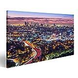 islandburner, Cuadros de Salon Los Angeles, California, EE.UU. temprano en la mañana en el Centro de la Ciudad. Cuadro Decoracion de Pared Impresión en Lienzo Formato Grande Modernos OSC-1K-N