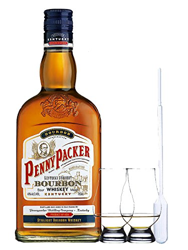Pennypacker Straight Bourbon Whiskey 0,7 Liter + 2 Glencairn Gläser + Einwegpipette 1 Stück