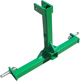 Heavy Duty 3 Point Category 0 Drawbar Receiver Hitch Tow Bar - Compatible with John Deere Green