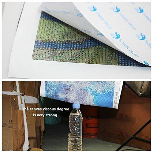 FKUO 5D DIY Diamond Painting Dragon Embroidery Full Round Diamond Cross Stitch Rhinestone Mosaic Painting Decor Gift (30X33 cm)