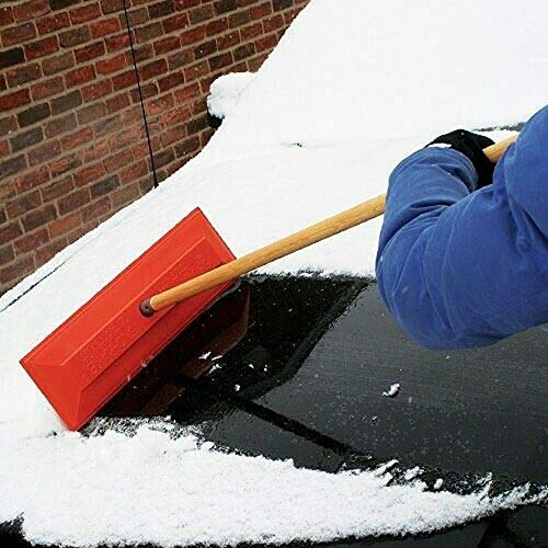 """SNO-RAKE 18"""" Commercial Duty Snow RAKE with 48"""" Wooden Finished Handle # 105"""