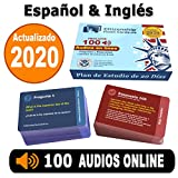US Citizenship Test Study Guide 2020, Ciudadania Americana 2020 en Espaol. SPANISH & ENGLISH ( 100 Flash Cards + Audios Online) - 100 Official USCIS Questions & Answers. Ciudadania 2020.