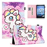 Fire HD 10 Case, Dteck Slim Premium PU Leather Folio Stand Case with Auto Wake/Sleep Smart Cover for All-New Kindle Fire HD 10.1' Tablet (9th/7th/5th Generation, 2019/2017/2015 Release), Little Pony