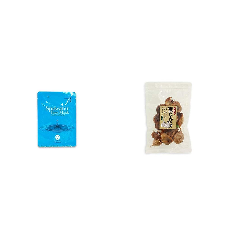 トリッキーフレキシブル研究[2点セット] ひのき炭黒泉 スパウォーターフェイスマスク(18ml×3枚入)?熟成発酵 黒にんにく(120g)