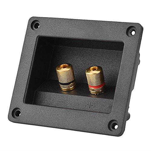 Eboxer akoestische componenten voor HiFi-luidsprekers 2 koper Binding Post terminal kabelaansluiting box shell luidsprekerterminal