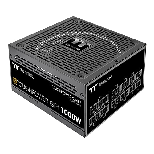 Thermaltake Toughpower GF1 1000W 80+ Gold Analog Controlled SLI Full Modular Power Supply, Ultra Quiet 140mm Hydraulic Bearing Fan, Smart Zero Fan, 100% JP Cap PS-TPD-1000FNFAGU-1