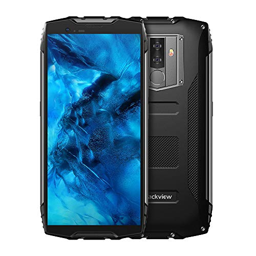 Blackview BV6800 Pro - 5.7 Inch FHD 18:9 Screen Military Standard Smartphone,IP68 Waterproof Shockproof Dustproof,Octa Core 4GB+64GB, NFC,OTG,16MP Camera,Face ID(Black)