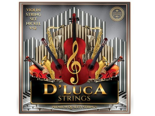 D'Luca VS2 Coated Nickel Violin String Set - Medium, 4/4