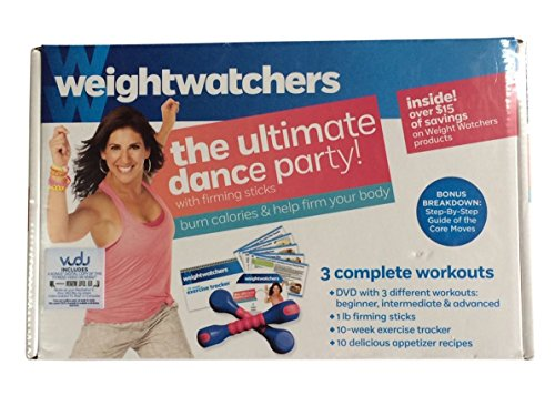 weight watchers The Ultimate Dance Party, with Firming Sticks, DVD, 3 Workouts