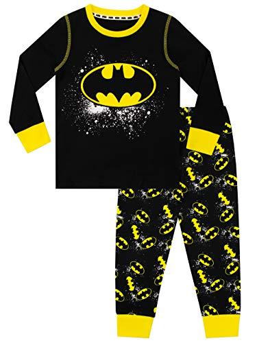 DC Comics Jungen Schlafanzug Batman Schwarz 104