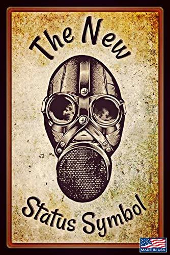 Alotaloha Status Symbol! Metal Sign 8'x12' Made in The USA! Funny Bar Pub Man Cave Pool Hot Tub Office Garage Stunt Humor