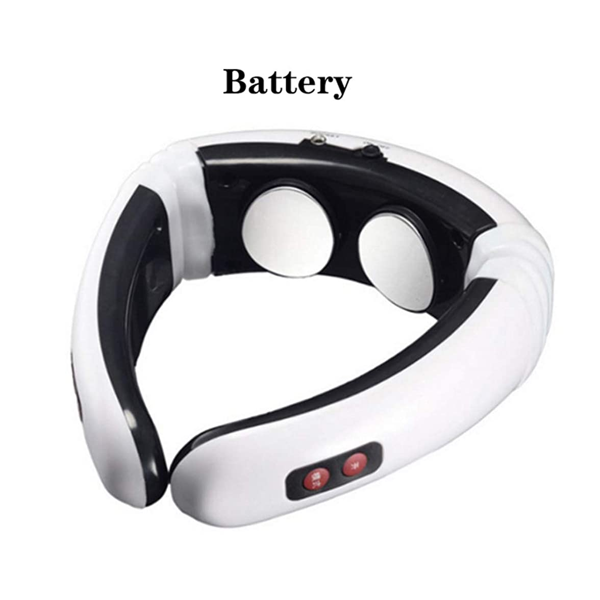 研究差し引くスライム電気パルス背中と首マッサージ熱子宮頸部リラクシングパルスマッサージデバイス痛みを軽減するヘルスケアツール,Battery