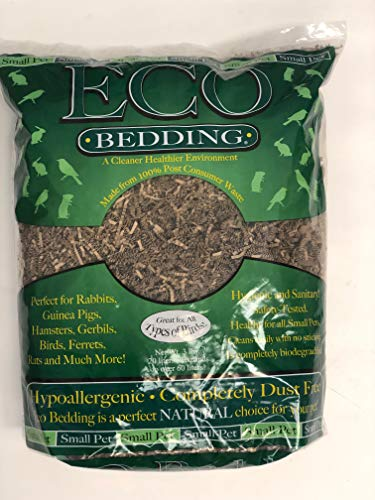 ECO BEDDING FiberCore Natural for Small Pets and All Type Birds, 3 lbs Bag