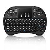 blackgik Mini Wireless Keyboard Clavier sans Fil de 2.4GHz i8 avec Le Pavé Tactile, la Souris pour Boîte de TV/Andriod de PC/TV Intelligent avec des Touches Multimédia
