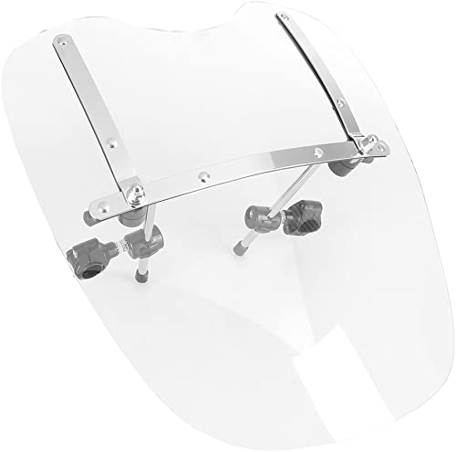 """new arrival Mallofusa outlet online sale Motorcycle 19"""" Front Windshield high quality Windscreen Compatible for Night Train 1999-2009 Softail 1984-2015 White online sale"""