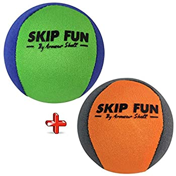 Water Balls Bounce On Water - Pool Ball & Beach Toys for Kids & Adults Extreme Skipping Fun Games Everyone Will Love Skip While Swimming & Keep Toddlers / Older Kids Having a Blast  Mixed 2 Pack
