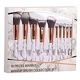 Pinceles de maquillaje Cepillo de maquillaje Patten de mármol de 10 piezas for mujer for maquillaje cosmético en polvo Sombra de ojos Pinceles de maquillaje Set Herramienta de belleza Maquiagem (cabel