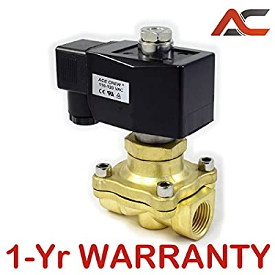 3/4 inch NORMALLY OPEN NO 110V-120V AC VAC Brass Solenoid Valve NPT ONE-YEAR WARRANTY from AceCrew