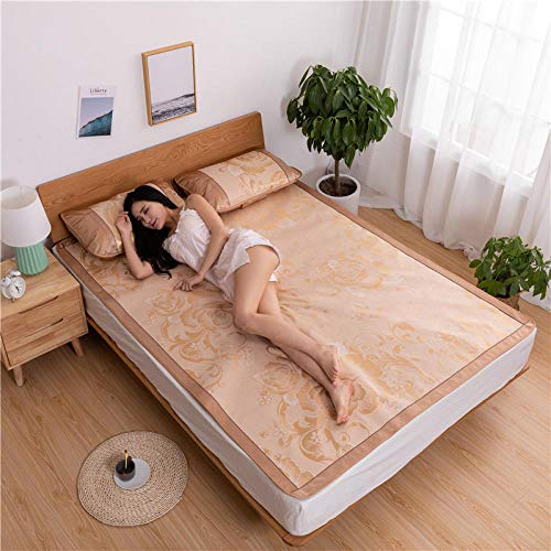 Preisvergleich Produktbild Rouzuofuzhuangdian Hypoallergen Maulbeerseide BettwäSche Set, Ice Silk Mat Kit Faltbar-L_200 * 220cm