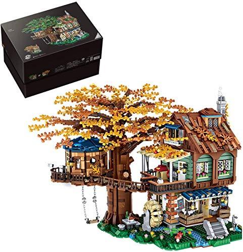 Bloques de Construcción Modelo de Arquitectura Street View Casa Del Árbol Modelo de Arquitectura Edificio 4761 Piezas de Bloques de Construcción Compatibles con Lego