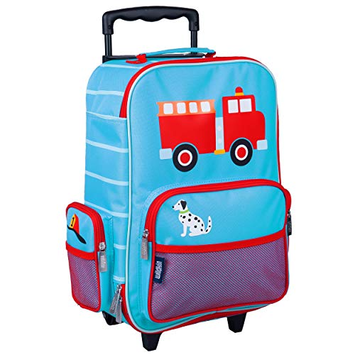 Wildkin Kids Rolling Suitcase for Boys and Girls, Kids Luggage is Carry-On Size and Perfect for School and Overnight Travel, Measures 16 x 11.5 x 6 Inches, BPA-free, Olive Kids (Heroes)
