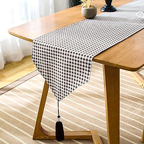 Camino de Mesa/Mantel decoración Lino Mantel clásico Mantel para Comedor Fiesta decoración de Vacaciones, 33x120cm